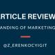 An Understanding of Marketing Strategy
